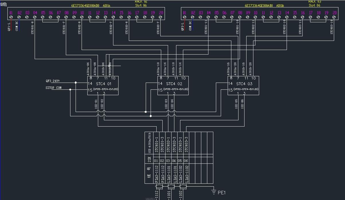 关于西门子f-ai模块的接线和配置问题